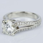 Split Shank Diamond Engagement Ring in White Gold (1.51 ct.) - small angle 2