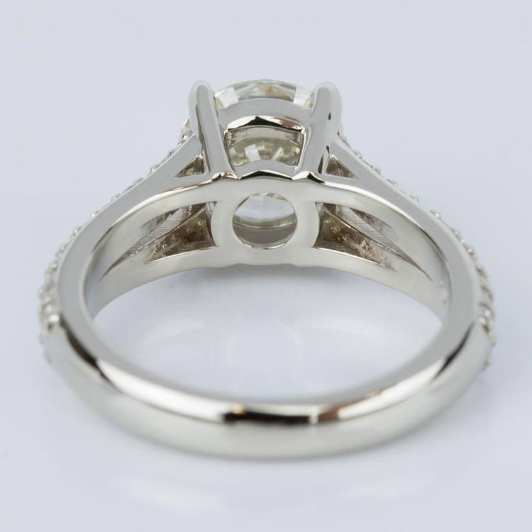Split Shank Diamond Engagement Ring in White Gold (1.51 ct.) angle 4