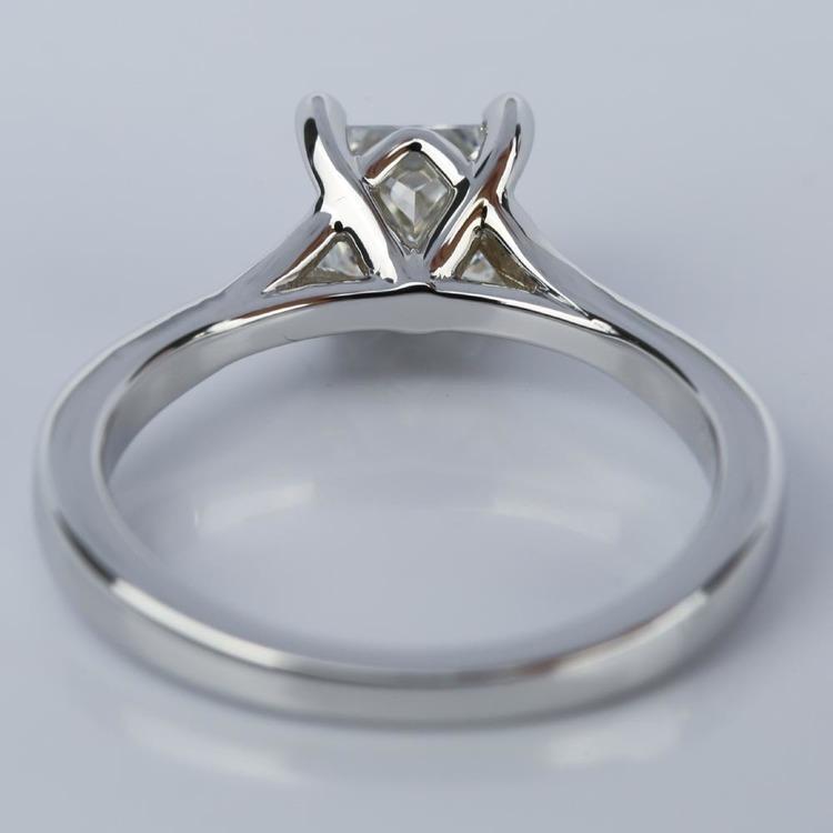 Split Shank Engagement Ring with Princess Diamond (1.07 ct.) angle 4