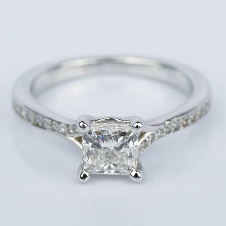 Split Shank Engagement Ring with Princess Diamond (1.07 ct.)