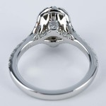 Custom Halo Oval Diamond Engagement Ring (0.81 ct.) - small angle 4