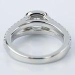 Split Shank Halo Cushion Diamond Engagement Ring in Platinum (1.01 ct.) - small angle 4