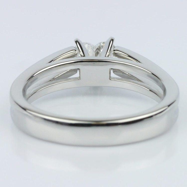 Split Shank Heart Diamond Solitaire Ring (0.58 ct.) angle 4