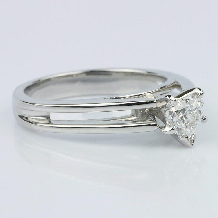 Split Shank Heart Diamond Solitaire Ring (0.58 ct.) angle 3