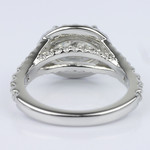 Horizontal Oval Halo Diamond Engagement Ring (2.26 ct.) - small angle 4