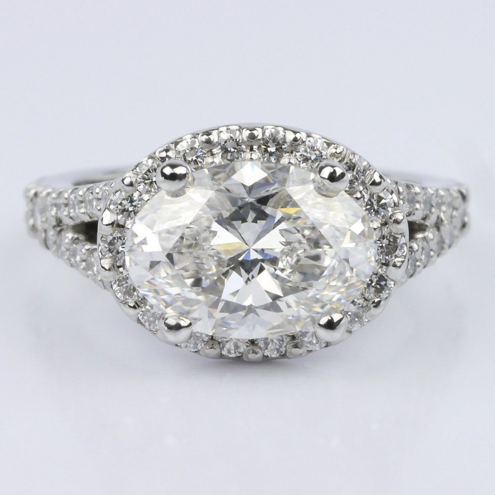Split Shank Halo Engagement Ring Settings