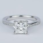 Split Shank Princess Diamond Engagement Ring (1.28 Carat) - small