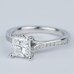 Split Shank Princess Diamond Engagement Ring (1.28 Carat) - small angle 2
