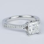 Split Shank Princess Diamond Engagement Ring (1.28 Carat) - small angle 3