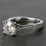 Split Shank Bead-Set Diamond Engagement Ring (1.50 Carat) - small angle 2