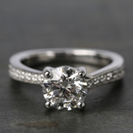 Split Shank Bead-Set Diamond Engagement Ring (1.50 Carat) - small