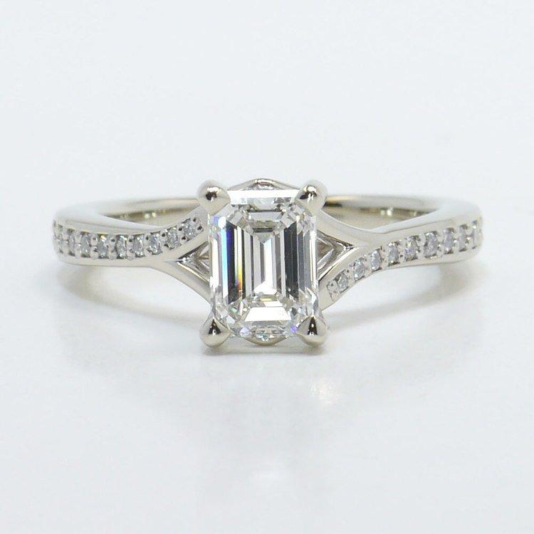 Split Shank Micropave Diamond Engagement Ring