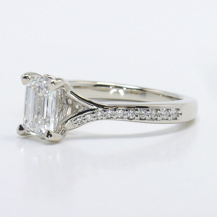 Split Shank Micropave Diamond Engagement Ring angle 2