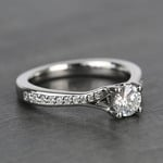 Split Shank Micropave Round Loose Diamond Engagement Ring In White Gold - small angle 3