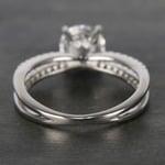 Custom Split Shank Pave Diamond Engagement Ring (1.20 Carat) - small angle 4
