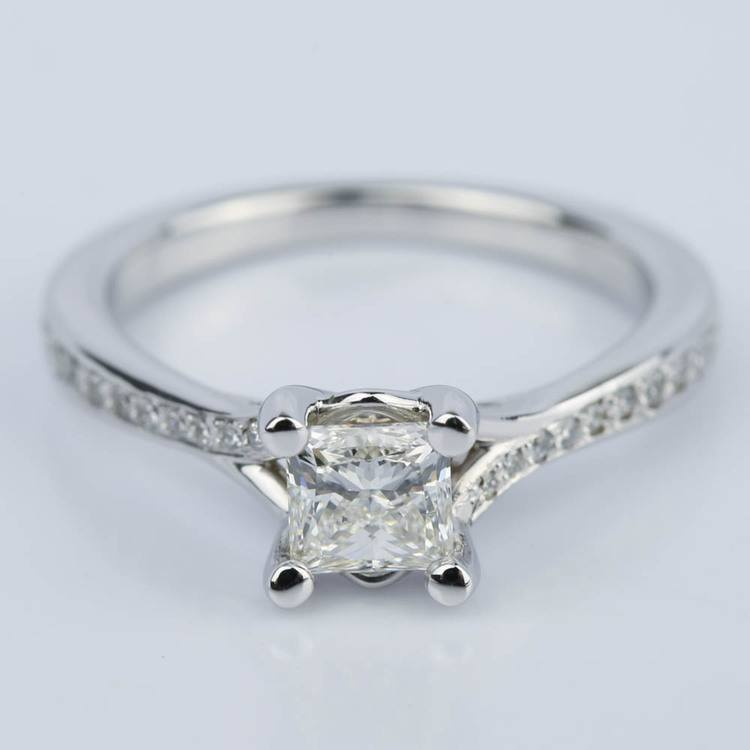 Split-Shank Princess Diamond Engagement Ring (0.70 ct.)
