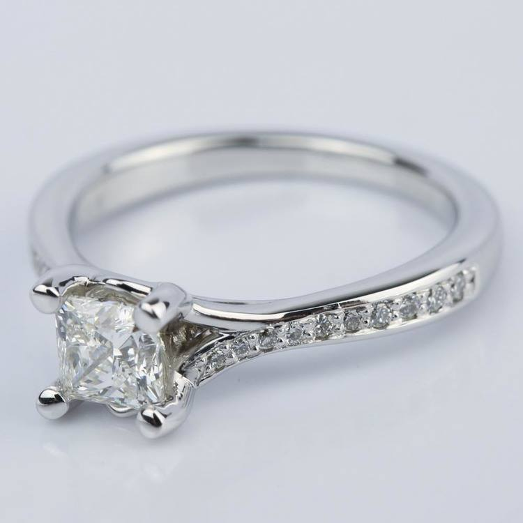 Split-Shank Princess Diamond Engagement Ring (0.70 ct.) angle 2