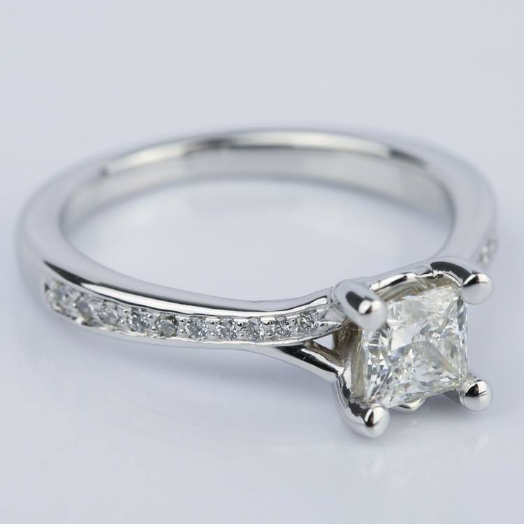 Split-Shank Princess Diamond Engagement Ring (0.70 ct.) angle 3