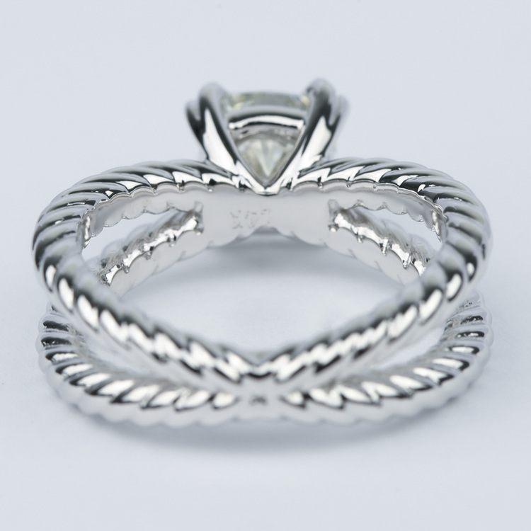 Twisted Rope Split Shank Diamond Engagement Ring (1.50 Carat) angle 4