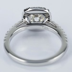 Square Halo 1 Carat Diamond Engagement Ring in White Gold - small angle 4