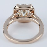 Square Halo Cushion Diamond Ring in Rose Gold (2.50 Carat) - small angle 4