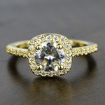 Square Halo Diamond Engagement Ring (1 Carat) - small