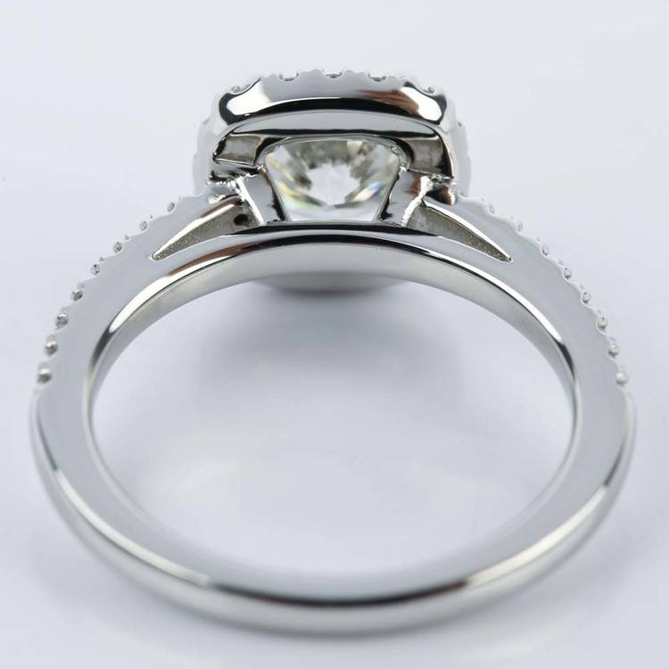 Square Halo Micro-Pave Diamond Engagement Ring (1.24 ct.) angle 4