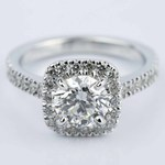 Square Halo Micro-Pave Diamond Engagement Ring (1.50 ct.) - small