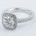 Square Halo Micro-Pave Diamond Engagement Ring (1.50 ct.) - small angle 2