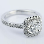 Square Halo Micro-Pave Diamond Engagement Ring (1.50 ct.) - small angle 3
