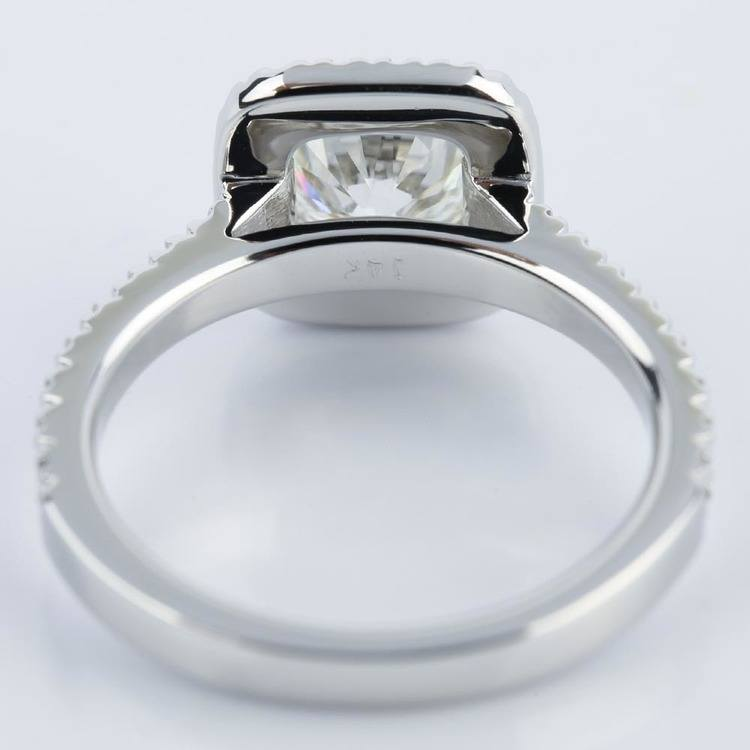 Square Halo Micro-Pave Diamond Engagement Ring (1.50 ct.) angle 4
