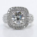 Heirloom 2 Carat Round Double Halo Diamond Engagement Ring - small