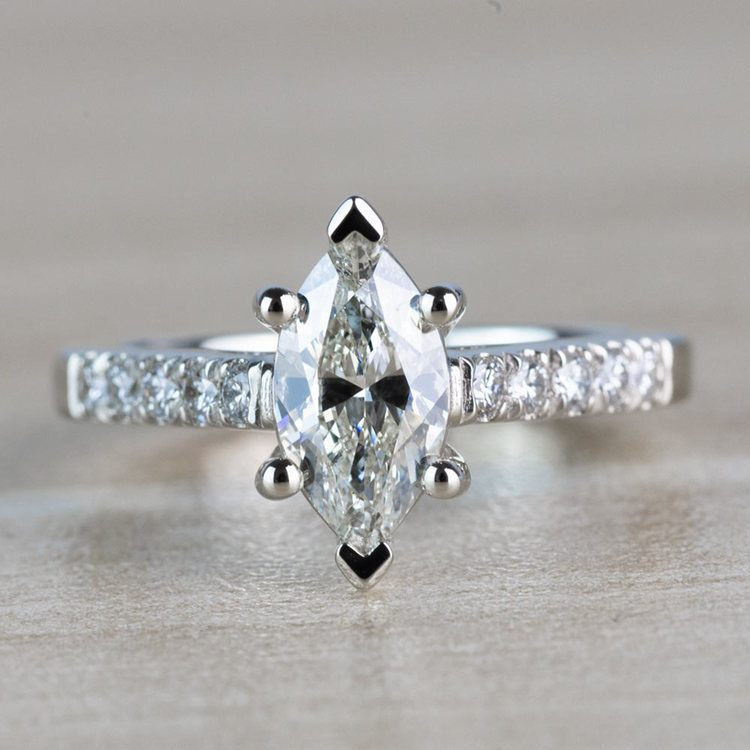Stunning 1.00 Carat Marquise Diamond Trellis Engagement Ring