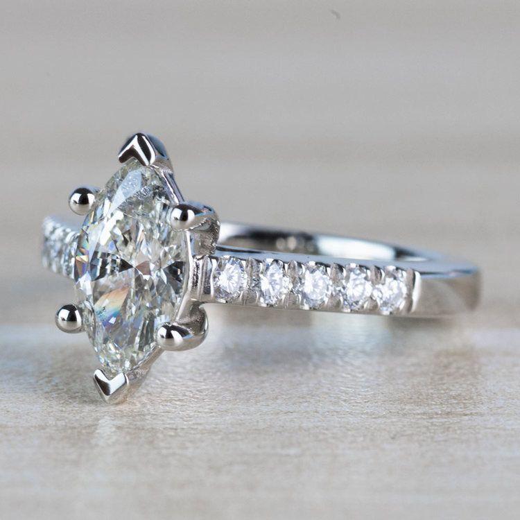 Stunning 1.00 Carat Marquise Diamond Trellis Engagement Ring  angle 2