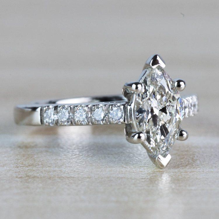Stunning 1.00 Carat Marquise Diamond Trellis Engagement Ring  angle 3