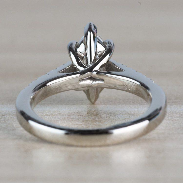 Stunning 1.00 Carat Marquise Diamond Trellis Engagement Ring  angle 4