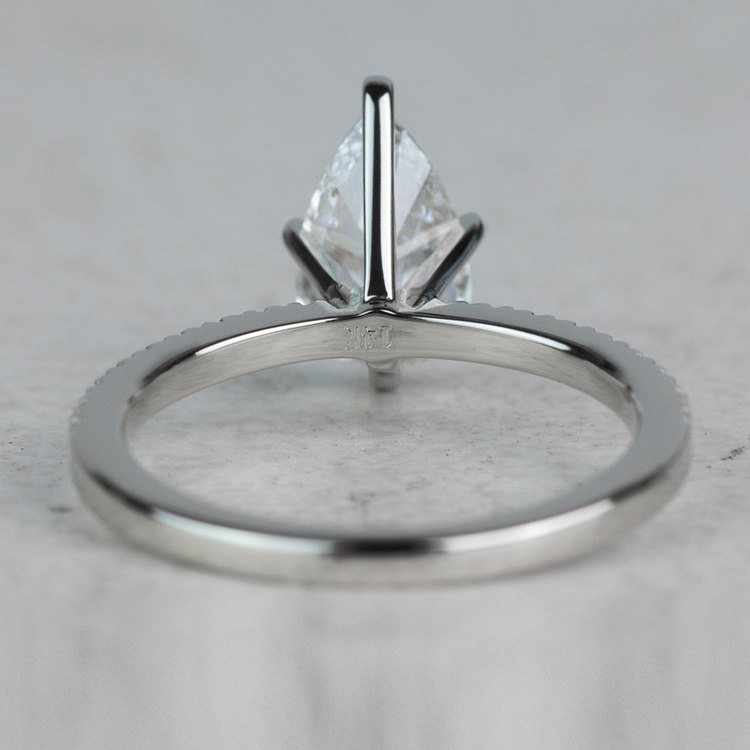 Stunning 1.03 Carat Pear Diamond Pave Engagement Ring  angle 4