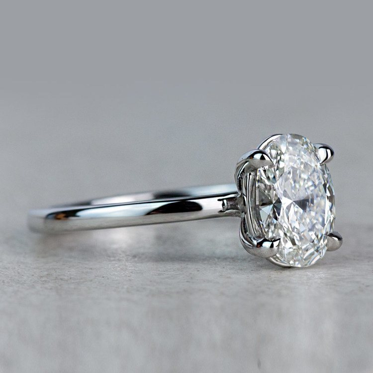 Stunning 1 Carat Oval Diamond Solitaire Engagement Ring angle 3