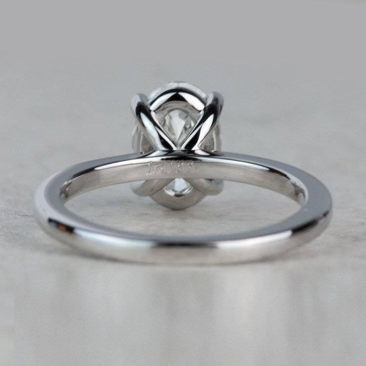 Stunning 1 Carat Oval Diamond Solitaire Engagement Ring angle 4