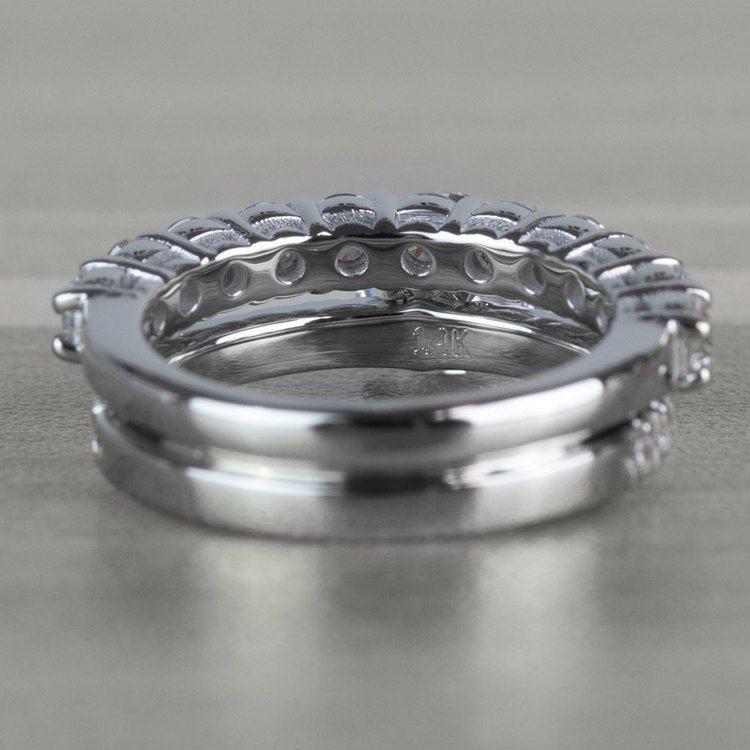 Stunning 1 Carat Petite Pave Diamond Engagement Ring angle 4