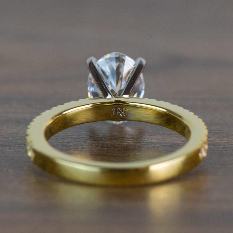 Stunning 2 Carat Oval Petite Pave Diamond Engagement Ring  angle 4