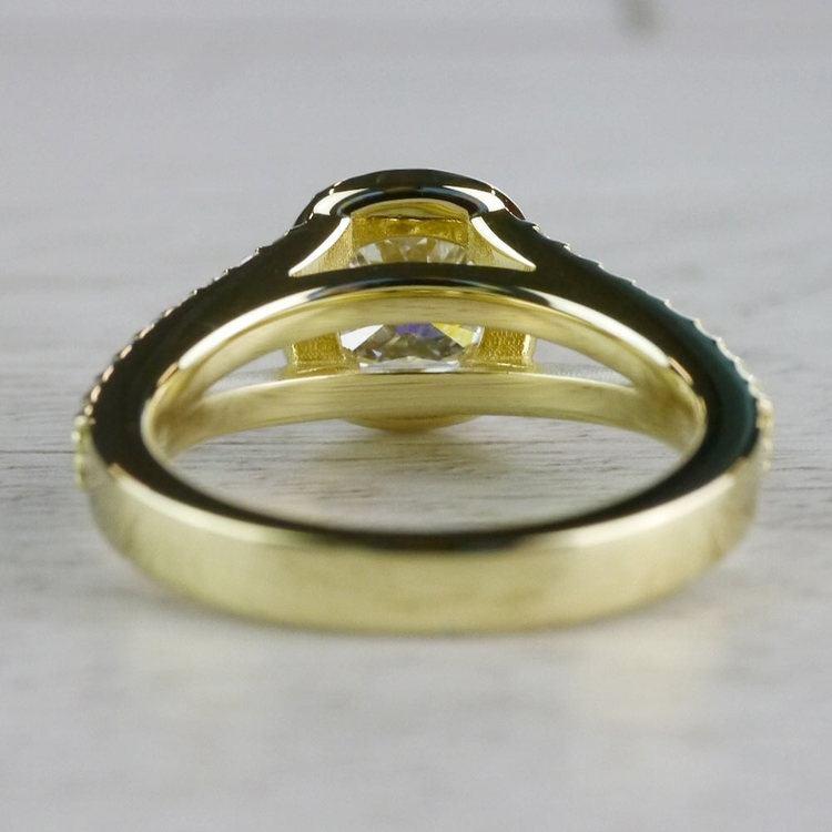 Stunning Split Band 1 Carat Cushion Cut Diamond Ring angle 4