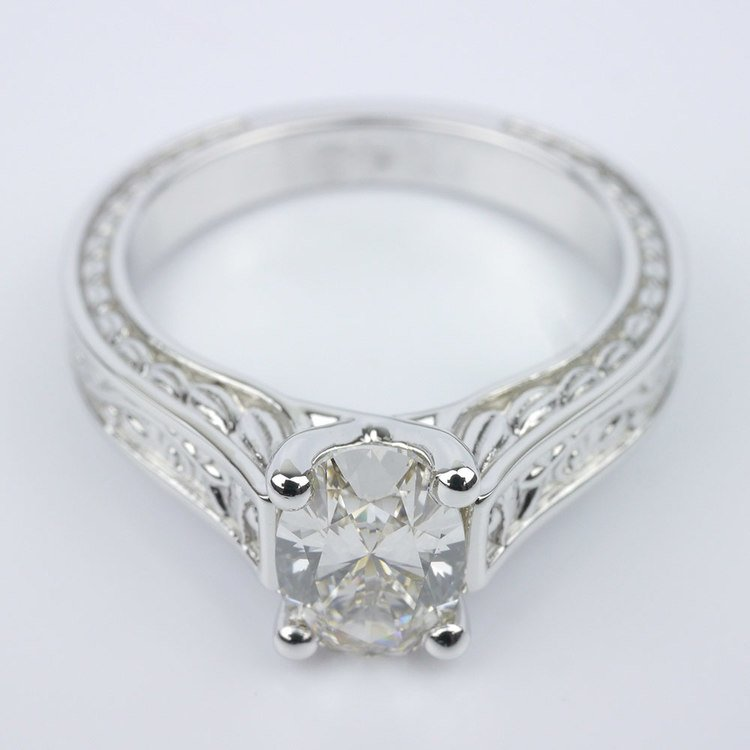 Stunning Antique Floral Solitaire Engagement Ring