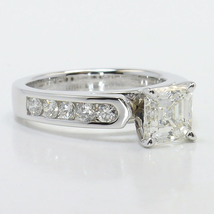 Stunning Cathedral Diamond Engagement Ring angle 3