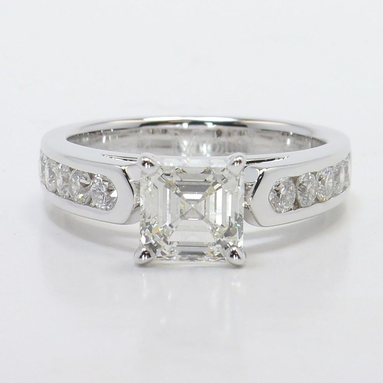 Stunning Cathedral Diamond Engagement Ring