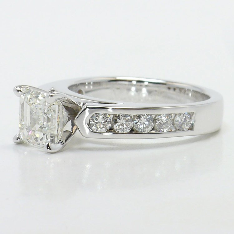Stunning Cathedral Diamond Engagement Ring angle 2