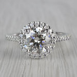 Stunning Halo Setting Engagement Ring 2 Carat Diamond Ring - small