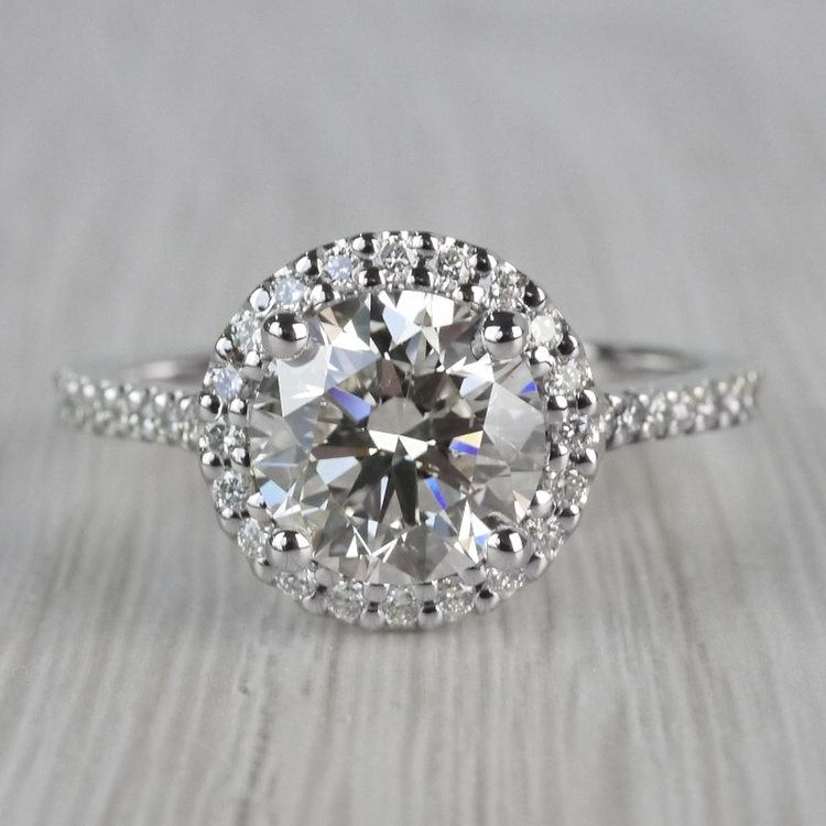 Stunning Halo Setting Engagement Ring 2 Carat Diamond Ring