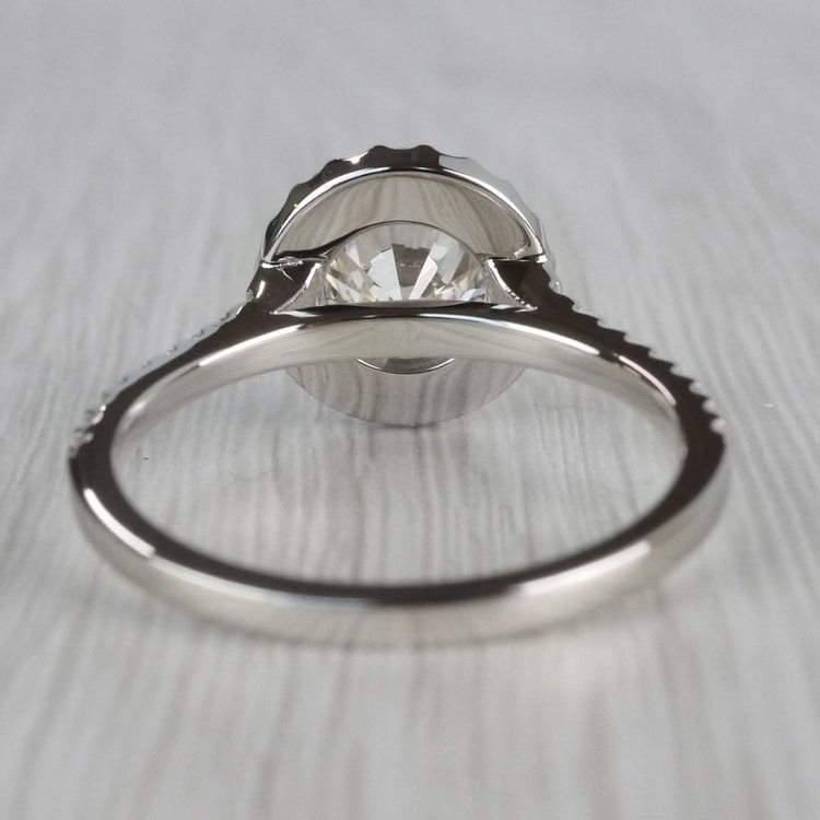 Stunning Halo Setting Engagement Ring 2 Carat Diamond Ring angle 4