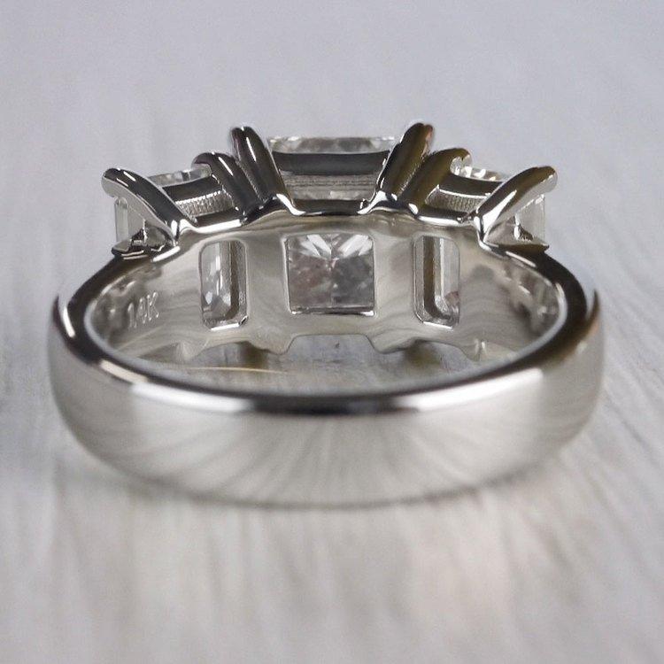 2.5 Ct. Princess Cut Diamond Ring With Side 2 Ct. Diamonds  angle 4